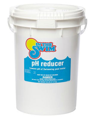 Swimming pool pH reducer balance